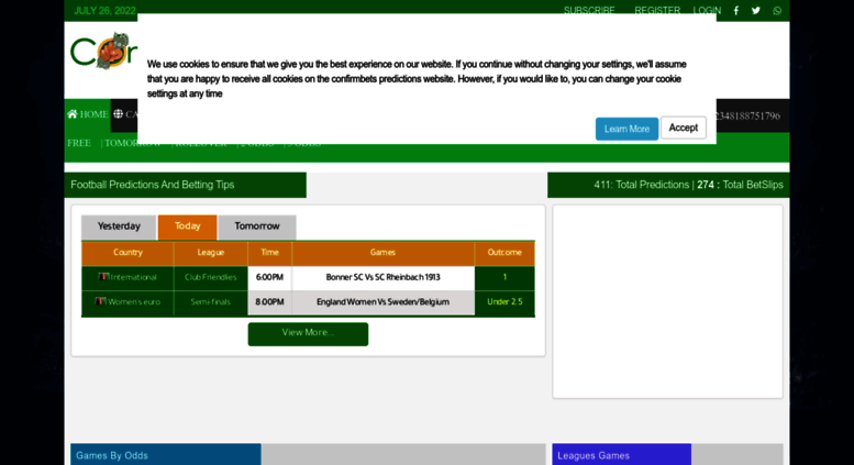 Access confirmbets com  Football Predictions - Confirmbets | Soccer