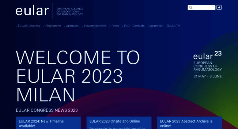 Access congress eular org  EULAR 2019 – Annual European Congress of