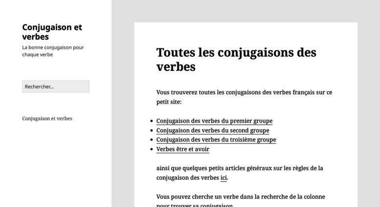 Access Conjugaison Et Verbes Com Conjugaison Et Verbes