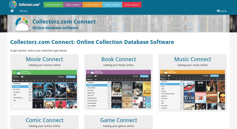 Access connect collectorz com  Online database software