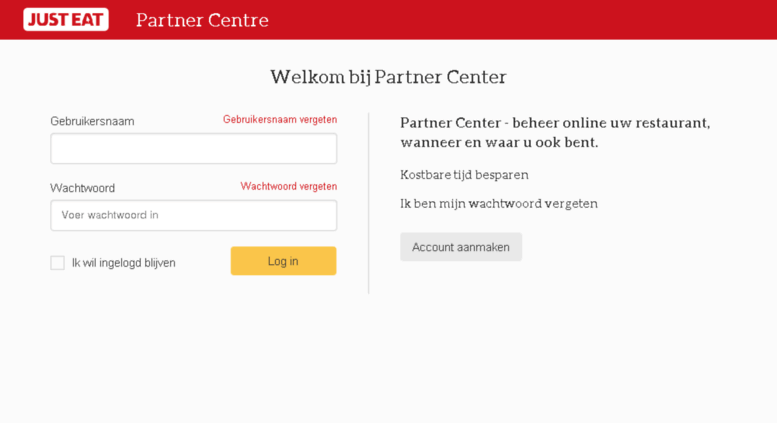 just eat partner centre contact number
