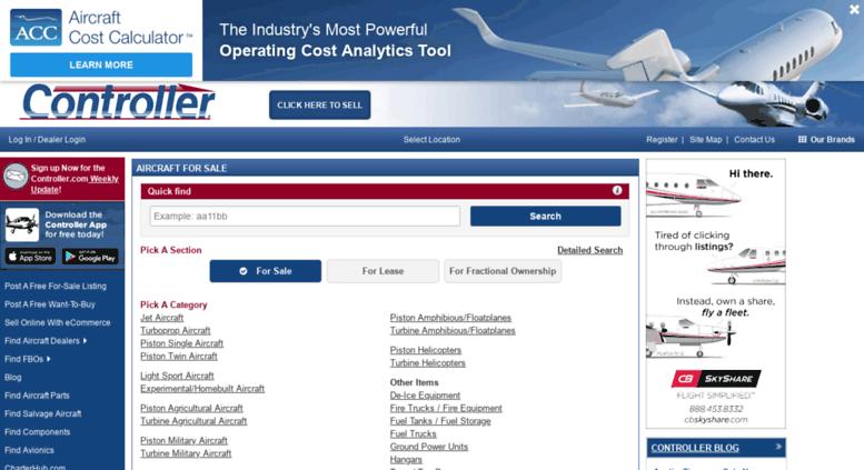 Access controller com  Controller com | Used aircraft for