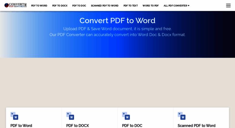 Access convertpdftoword net  Convert pdf to word - pdf to
