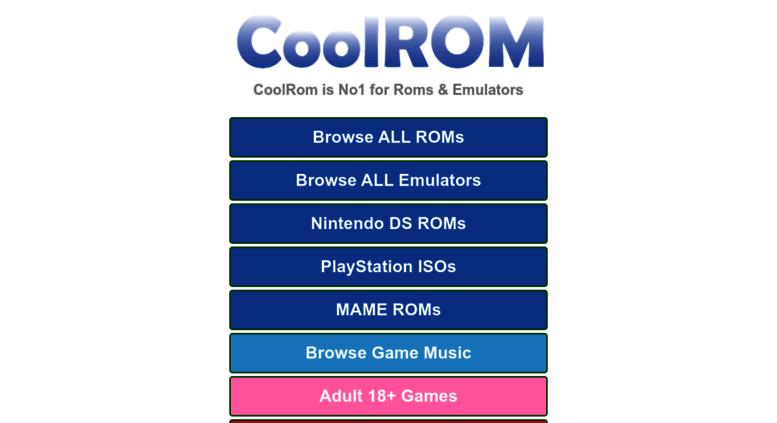 Access coolrom eu  CoolROM - N64 ROMs GBA ROMs SNES ROMs NDS ROMs