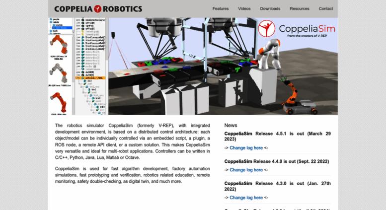 Access coppeliarobotics com  Coppelia Robotics V-REP: Create