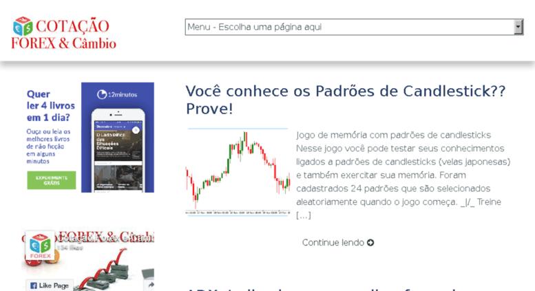 Cotacaoforexecambio Br Screenshot