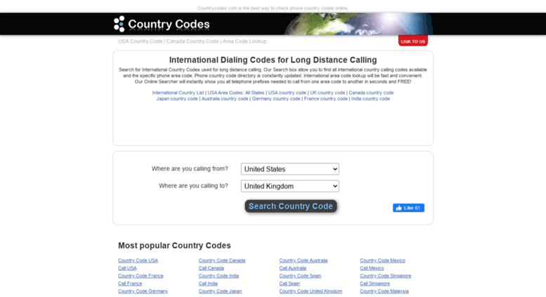 area code to call england from france