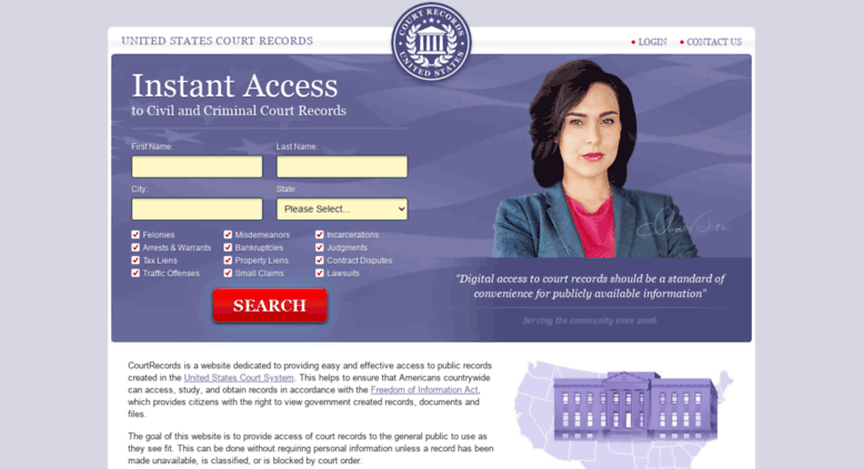 Access courtrecords org  On-Demand Court Records and Case