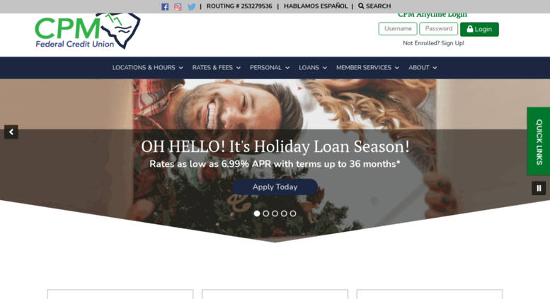 Cpm Federal Credit Union >> Access Cpmfed Com Home Cpm Federal Credit Union