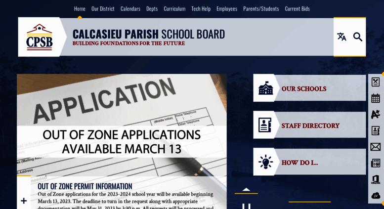 Cpsb Calendar 2020 Access cpsb.org. Calcasieu Parish Public Schools / Homepage