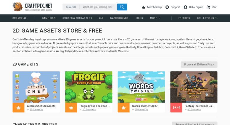 Access craftpix net  2D Game Assets Free & Premium