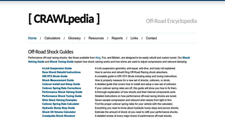 Access crawlpedia com  CRAWLpedia - The Off-Road Encyclopedia