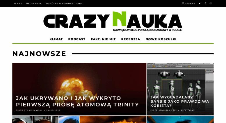 Access Crazynaukapl Crazy Nauka Crazy Nauka O Nauce