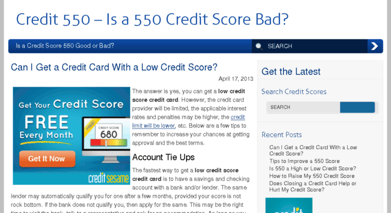 550 Credit Score Credit Card >> Access Credit550 Com Credit 550 Is A 550 Credit Score Bad