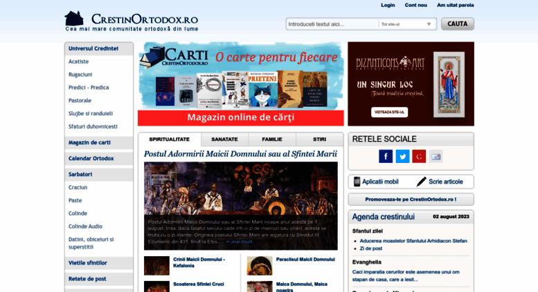 Calendar Crestin Ortodox.Access Crestinortodox Ro Crestinortodox Ro Cea Mai Mare