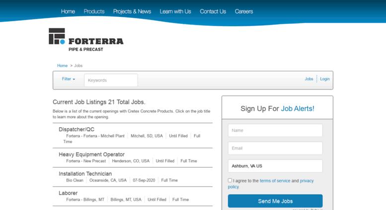 Access cretexconcreteproducts applicantpro com  Job Listings
