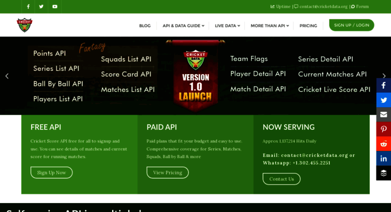 Access cricapi com   : Cric API - The Ultimate Source for Cricket API :