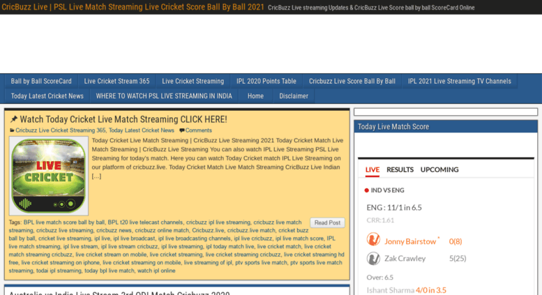 Access cricbuzz live  Today CricBuzz Live Streaming IPL