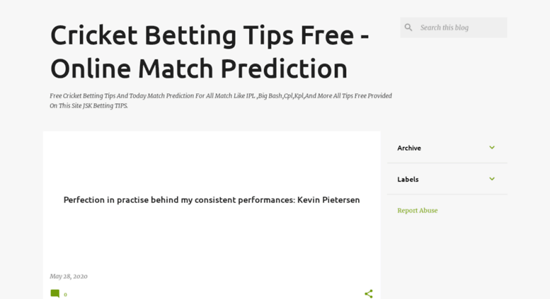 Access cricketbettingtipsfree co in  Cricket Betting Tips