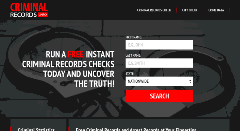 Free Criminal Record Check >> Access Criminalrecords Info Free Criminal Records Search