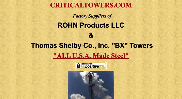 Access criticaltowers com  CRITICALTOWERS COM | ROHN | 25G