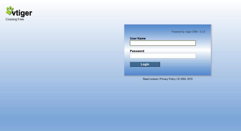 Access crm homecruiseagent com  vtiger CRM 5 - Commercial Open