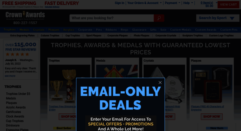 Access crownawards com  Trophies | Awards and Trophies