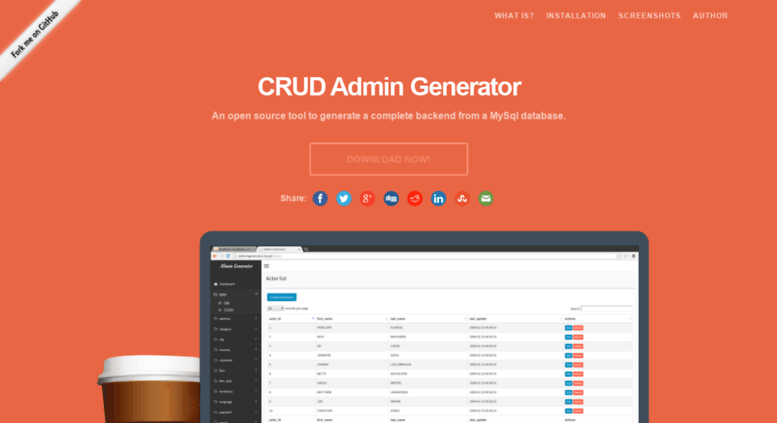 Access crud-admin-generator com  CRUD Admin Generator
