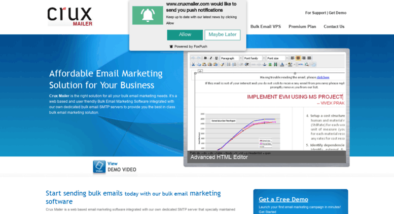 Access cruxmailer com  Bulk Email Marketing Service with Simple Bulk