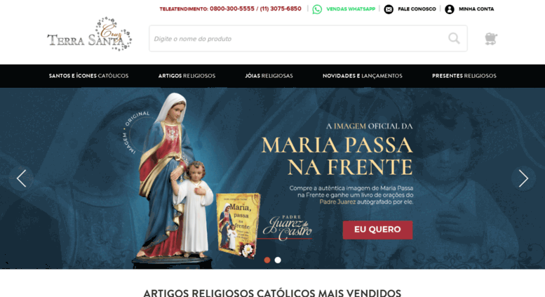 Access cruzterrasanta.com.br. Loja de Artigos Religiosos Católicos ... 98e8f6f7ca