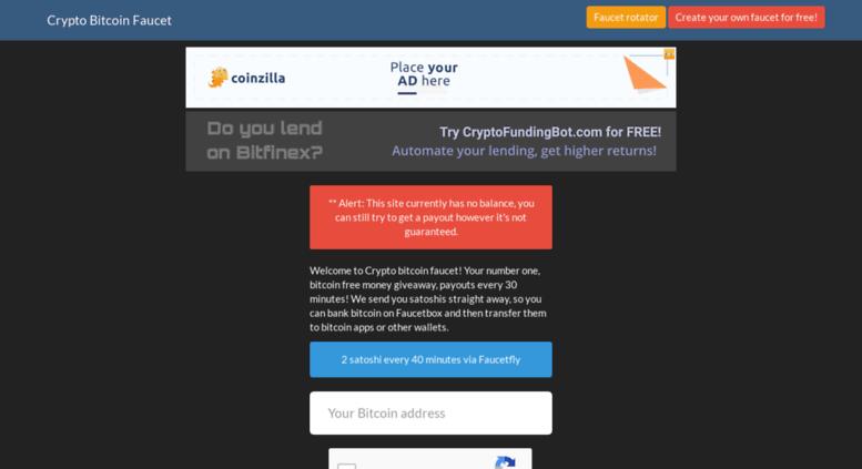 Access crypto-bitcoin faucetfly com  Crypto Bitcoin Faucet