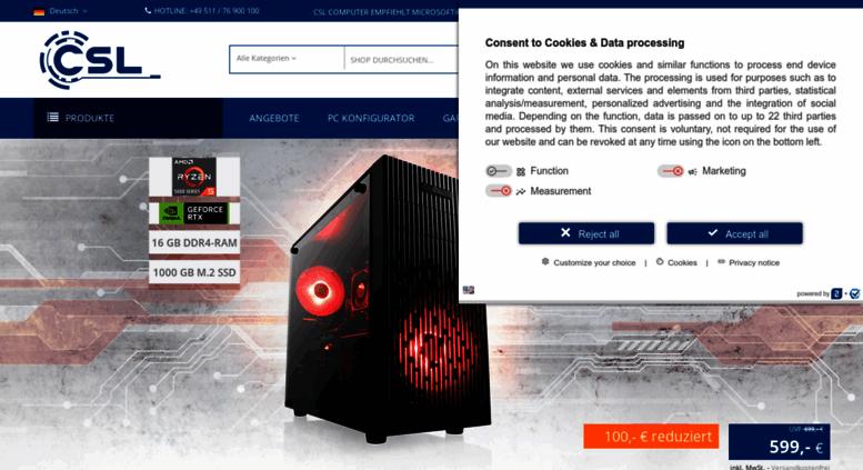 e830b67d2d223c Access csl-computer.com. PC-Systeme