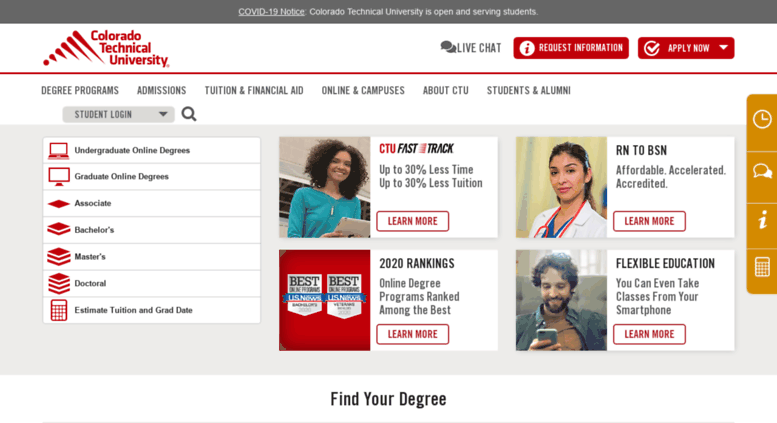 Access Ctuonline Com Ctu Earn An Accredited Online Degree At