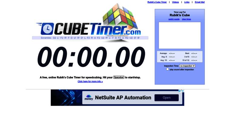 Access cubetimer com  Rubik's Cube Timer - CubeTimer com