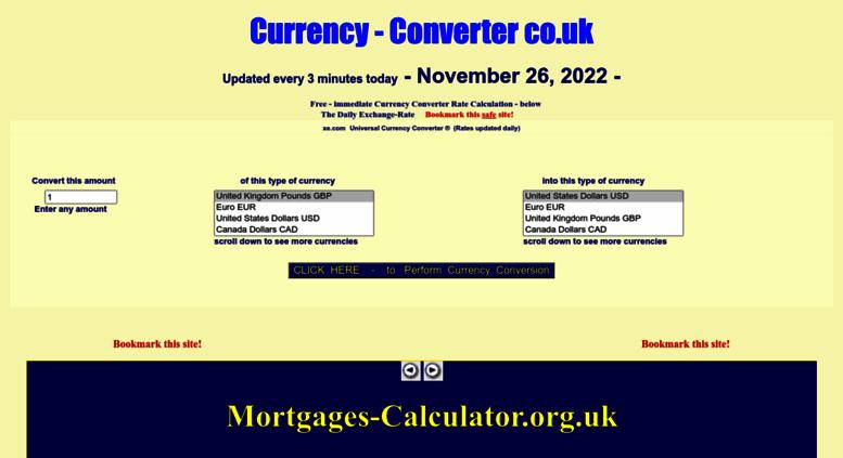 Currency Converter Co Uk Screenshot