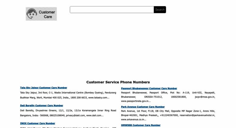 Access customercarenumbers net  Customer Service Phone Numbers