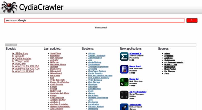 Access cydiacrawler com  Cydia download   Cydia Crawler