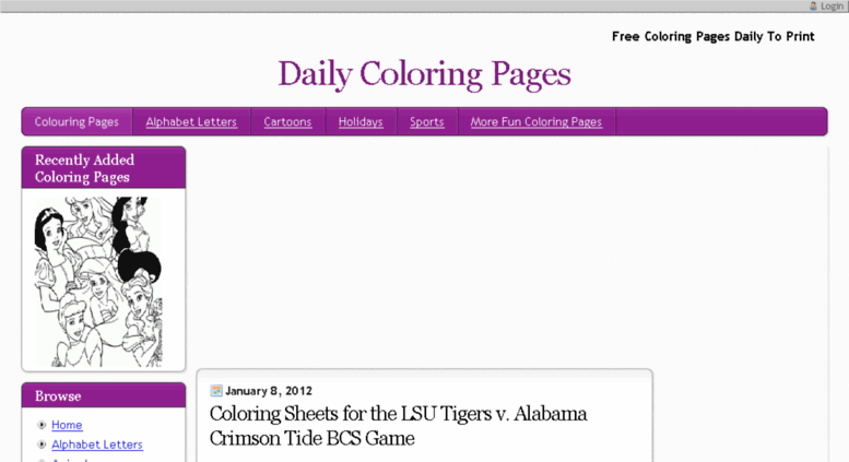 Access dailycoloringpages.com. Free Coloring Pages Daily To ...
