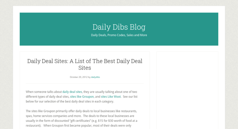 Access dailydibsblog com  Daily Dibs Blog — Daily Deals