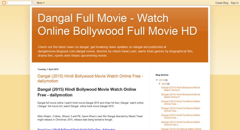 Access Dangalmovieblogspotin Dangal 2015 Bollywood Hindi Full