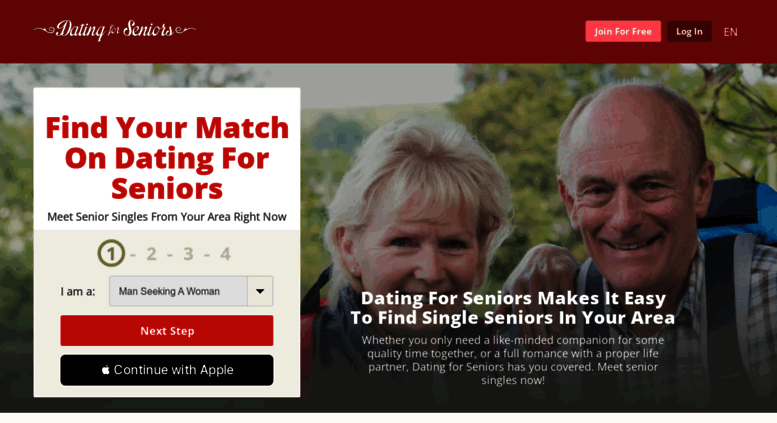 singles and personals senior dating address
