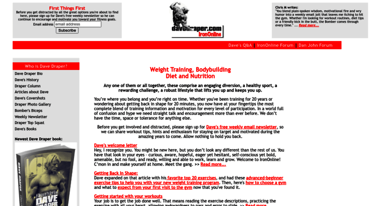 Access davedraper com  Bodybuilding, Weight Training, Nutrition and