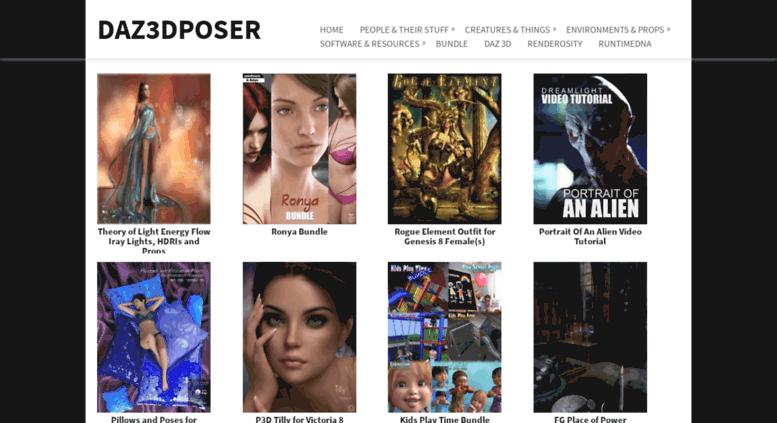 Access daz3dposer com  Daz3DPoser - Free download 3D software and