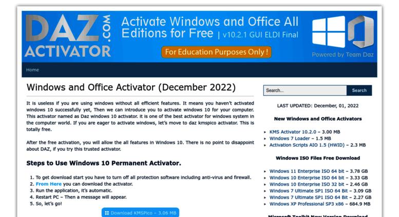 windows activator by daz download