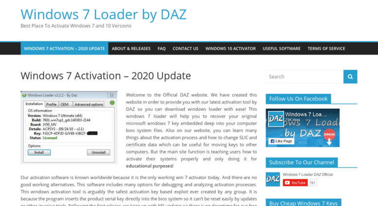 daz activator official site
