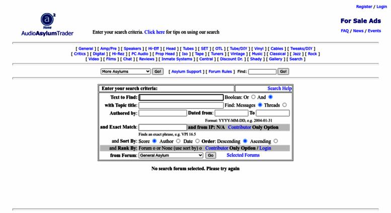 Access db audioasylum com