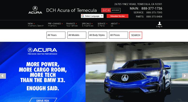 Acura Dealership San Diego >> Access Dchacuraoftemecula Calls Net Dch Acura Of Temecula Acura