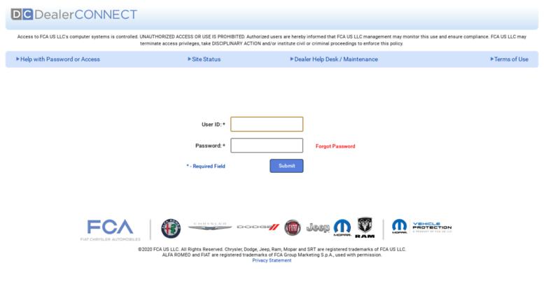 Chrysler Dealer Connect >> Access Dealerconnect Chrysler Com Dealerconnect Login