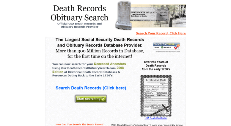 social security search death record