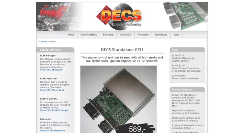 Access decselectronics com  Decs Standalone ECU